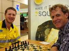 Chess hopefuls make their moves against master