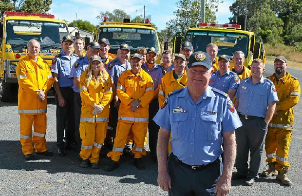 HUGE EFFORT: Col Harch AFSM has been recognised for 55 years of service with Queensland Fire and Emergency Services.