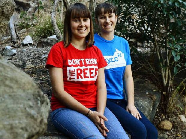 EARTH WATCH: Boonah sisters Kirri (left) and Tallara Gray play a role in the Australian Youth Climate Commission.