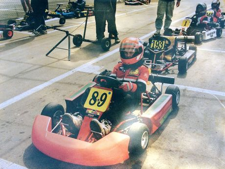 Lee Holdsworth gets ready to kart as a youth. Photo: Contributed
