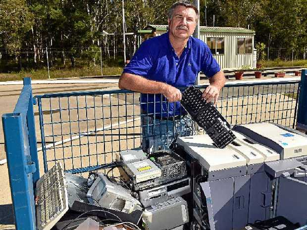 CAN DO BETTER: Noosa Councillor Joe Jurisevic visits Brite Side recycling shop and Noosa Landfill as a report into Noosa kerbside clean-up is released.