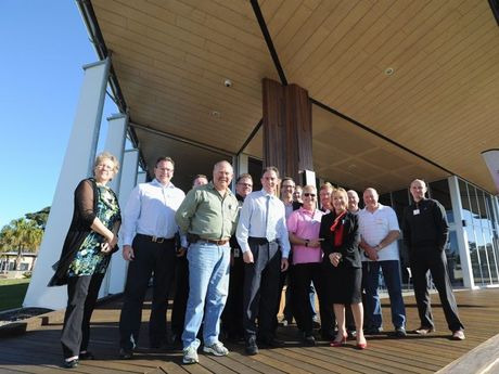 Delegates from the Local Government Association of Queensland Economic Development Conference visit the Discovery Sphere in Pialba before the conference gets under way.