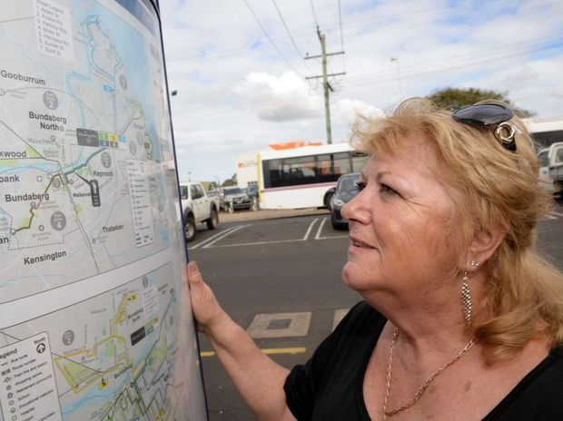 ON THE BUSES: Burnett Heads resident Terry Adams says she uses the bus regularly but would like to see more services to her region. Photo: Max Fleet / NewsMail