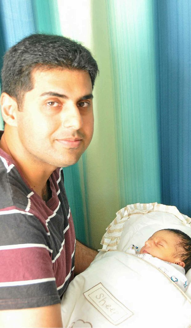 Rayan, newborn son of Hira Imran and Imran Muhammad, was born on the same date as his father.