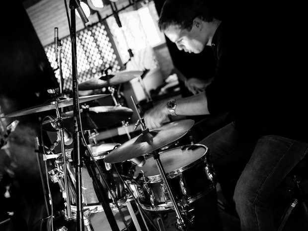 Rockhampton drummer Logan Brewster
