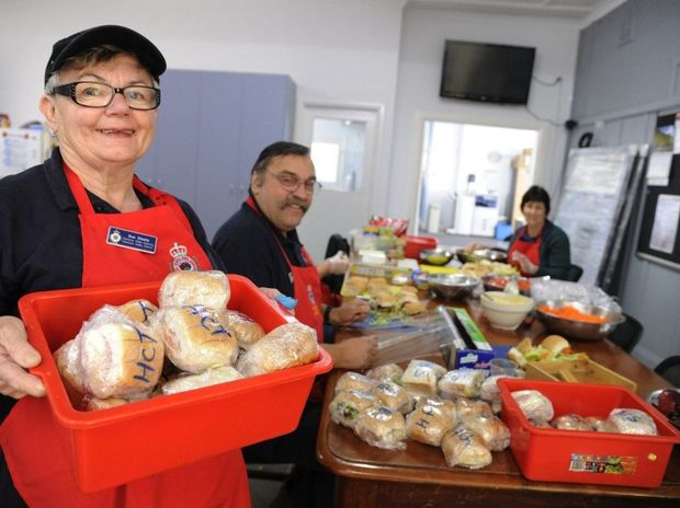 RFS Sunday catering team leader Sue Steele and her team were preparing lunch at the Fire Control Centre at Ulmarra on Sunday for 150 fire fighters.