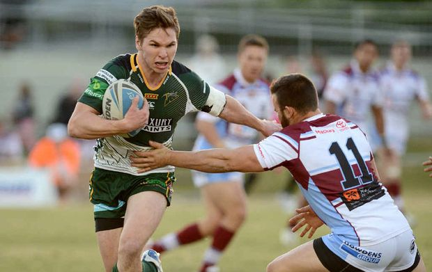 POWERFUL SURGE: Ipswich hooker Matt Parcell was one of the Jets' best against Mackay during Saturday's comprehensive Queensland Cup win at the North Ipswich Reserve.