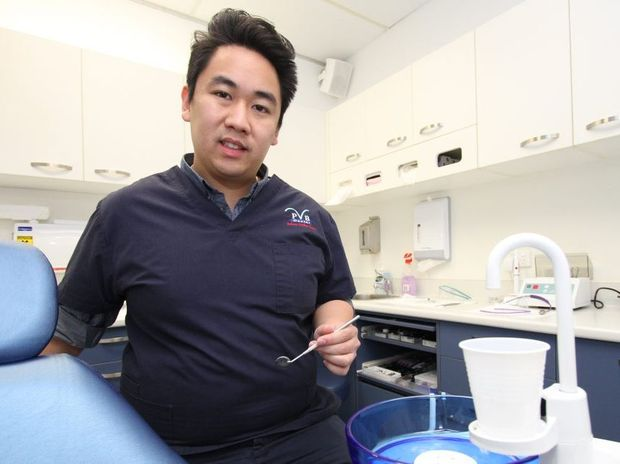Rocky dentist Dr Vu Ngo supports the reintroduction of fluoride into the city's water supply as a way of improving the dental wellbeing of residents. Photo: Chris Ison / The Morning Bulletin