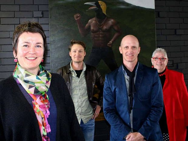 CREATIVE LEADERS: (from left) Anita Bellman (Northern Rivers Conservatorium), Julian Louis (NORPA), Brett Adlington (Lismore Regional Gallery), and Ros Derrett (Creative Lismore) are preparing for Saturday's Afternoon of Artful Actions.