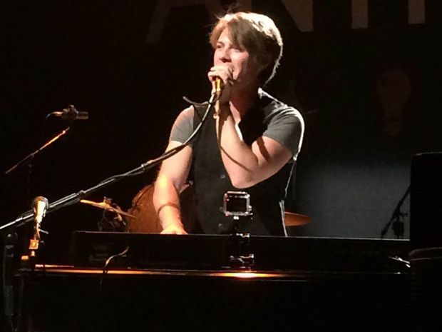 Taylor Hanson performing at the Hanson brothers' concert at Brisbane's Tivoli on Tuesday night.