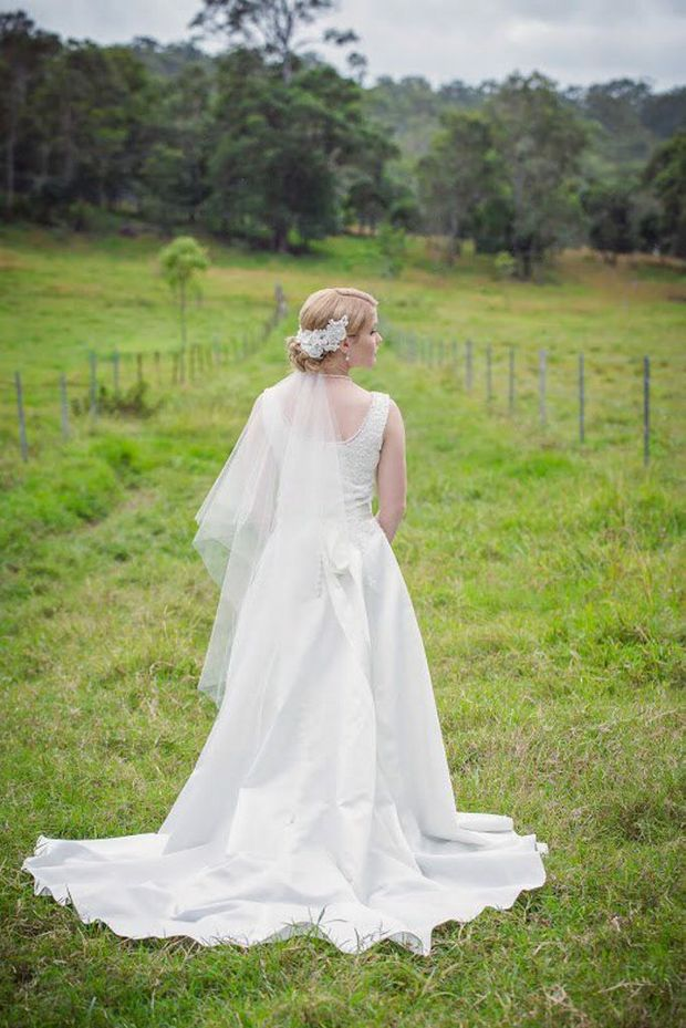 Tegan Gargett (nee Hamilton) from is a finalist in Bride To Be magazine's Bride of the Year competition. Photo Contributed by Ta Da photography. Photo Contributed