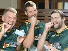 SAY AHHH. Yep, it is medication time for the Ipswich Jets boys.