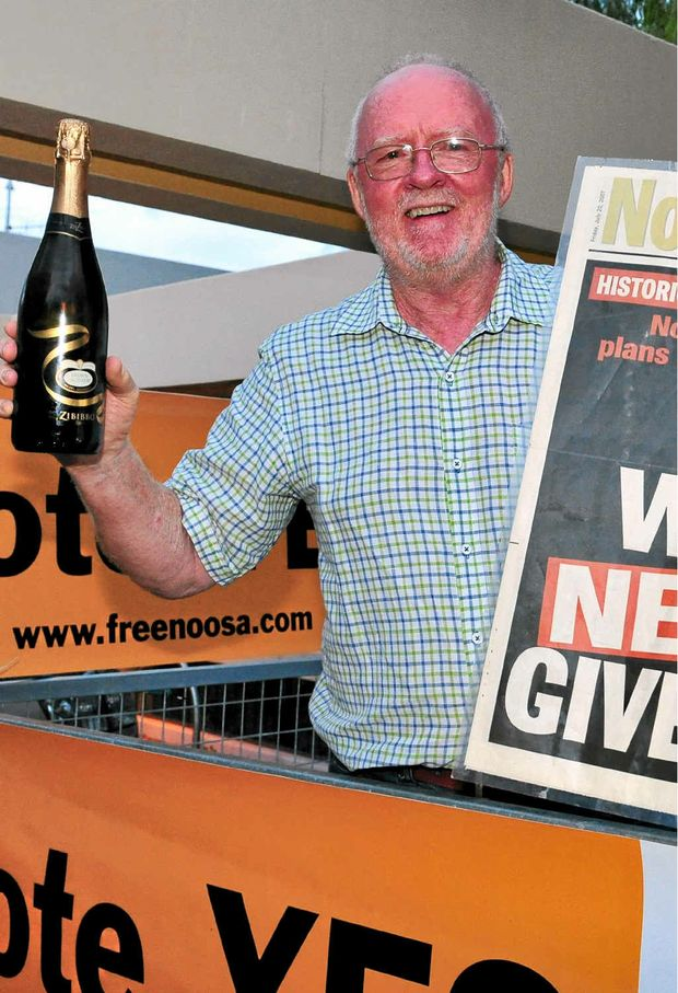 CHAMPAGNE TIME: De-amalgmation spearhead Noel Playford celebrates victory last year.