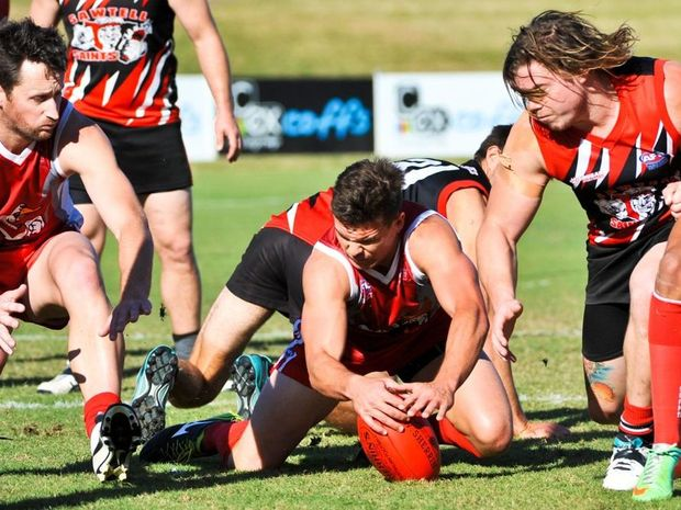 It's hard to find a clear favourite ahead of today's AFL North Coast grand final between Coffs Swans and Sawtell/Toormina. Photo: Rob Wright/Coffs Coast Advocate