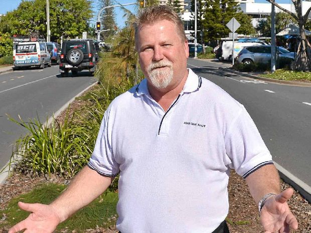 FORTUNES IMPROVE: Coolum Business and Tourism President Noel Mooney in Coolum's main street.