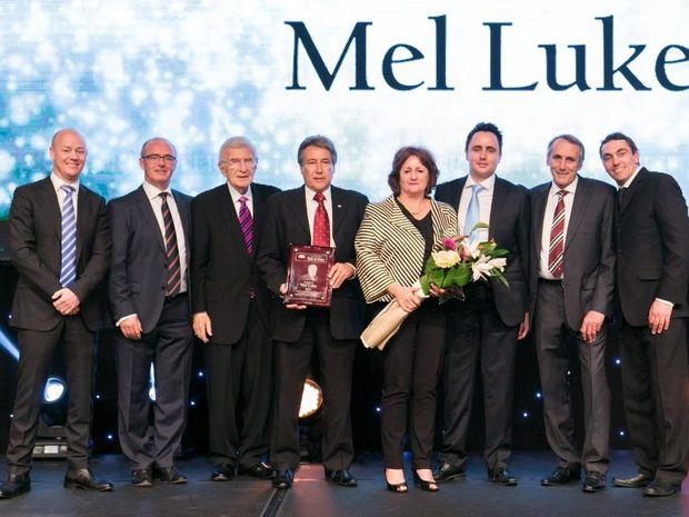 Photograph is of from left Ben Ryan, Retail Chairman; Fergus Collins, CEO Supermarkets, Metcash F&G; Dr Tom Haggai, Chairman of the Board, USA; Mel Luke, Gill Luke, Matthew Luke, Trevor Luke, Wade Luke. Taken at the IGA Retailer of the Year Awards, Gold Coast 2014.