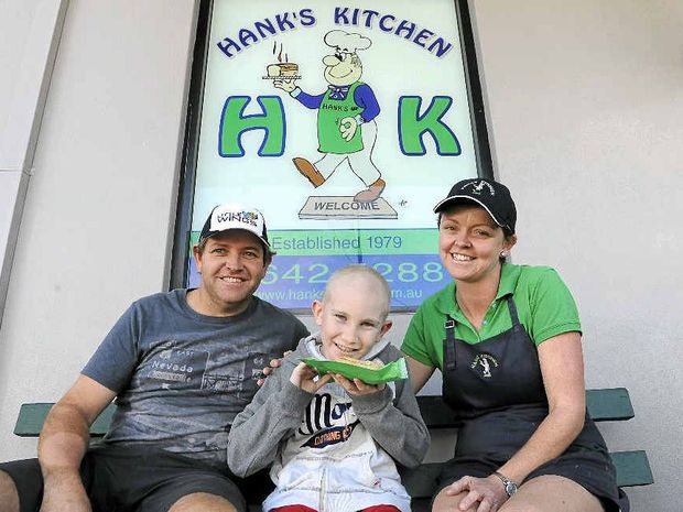 HELPING OUT: Owners of Grafton's Hank's Bakery Aaron Hancock and N'dea Skeels are using their business this week to support the 'Little Wings Charity' and Sam Carroll by donating 50 cents from each product sold. Photo: Debrah Novak