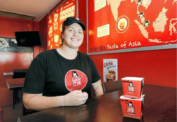 TO YOUR DOOR: New Yorker Amy Pagano introduced home delivery to her Wok Me store in North Rockhampton in April. She says the service is very popular.