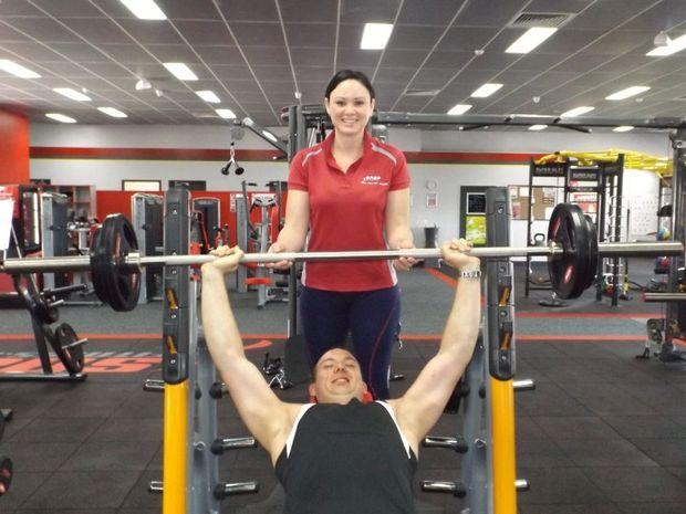 Snap Fitness Maryborough manager Megan Geary with personal trainer Ricky Butler.