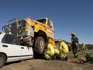 Firies train for heavy vehicle rescues