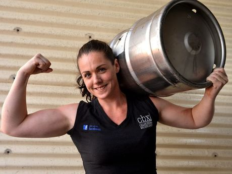 Alana Curnow gets into training for the strength test. Photo: Warren Lynam / Sunshine Coast Daily
