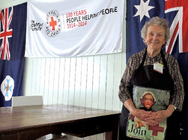 LIFETIME OF SERVICE: Jean Bourke is the longest-serving member of the Mackay branch of the Australian Red Cross. She has been a volunteer with the organisation for 40 years.