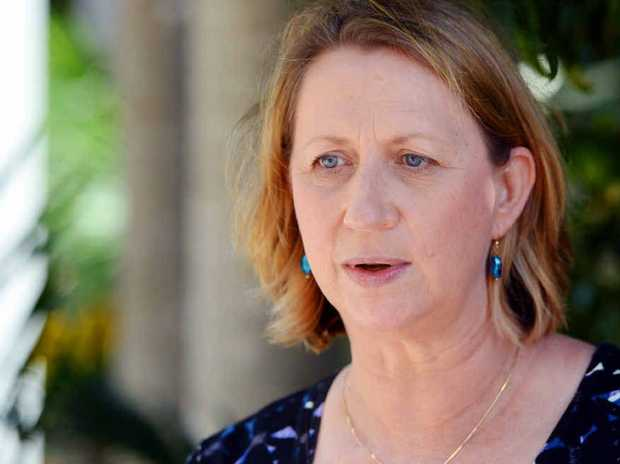SPEAKING OUT: Labor MP Sharon Bird, at CQUniversity, criticises moves to deregulate university fees and introduce interest rates on HECS debts.