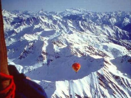 MAGIC: The view from a hot air balloon over Mont Blanc.