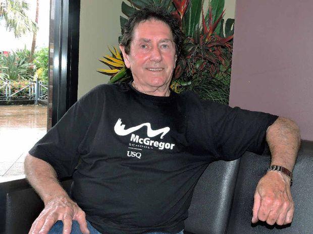 BRUSH READY: Australian painter John Wilson is in Mackay to hold advanced art workshops at the Mackay Art Society.