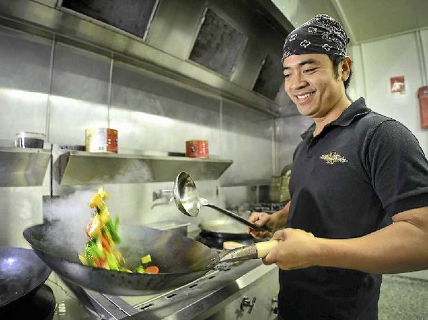 SMALL DETAILS: Tai Lam is looking forward to opening his first restaurant in Gladstone, Thai Basement, on Monday.