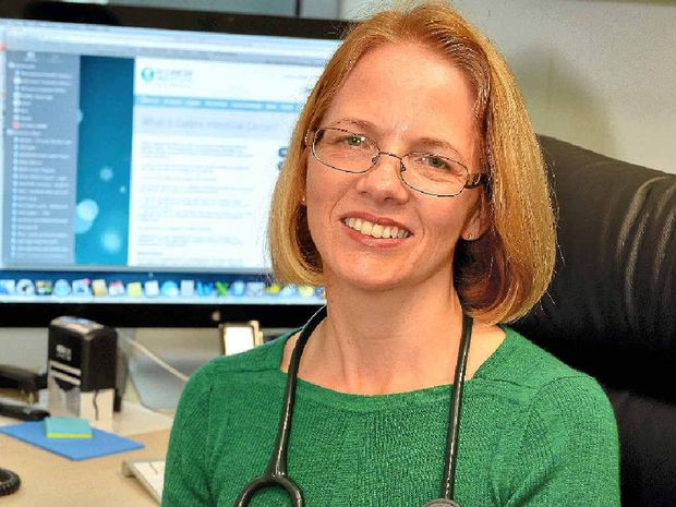WATCHING THOSE NUMBER TWOs: Cancer specialist Michelle Cronk will attend a public seminar on gastro-intestinal cancer in Brisbane next week.