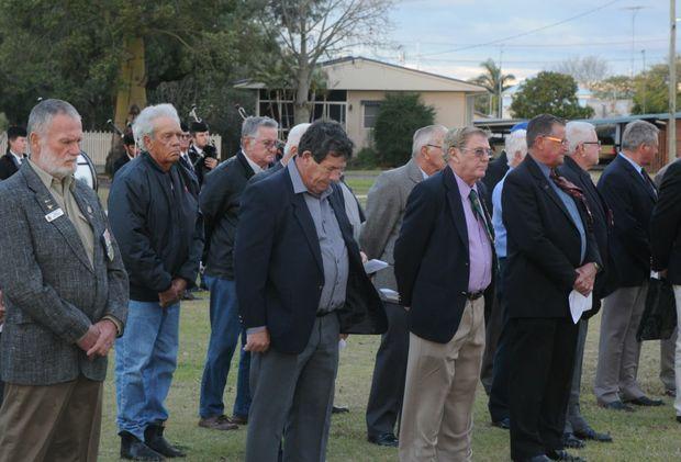 Vietnam veterans at the Gatton parade.