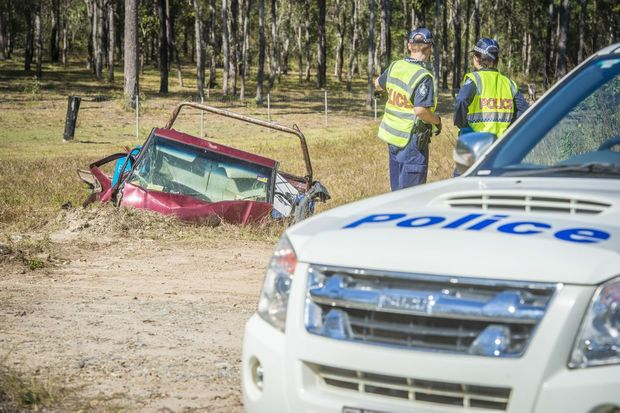 Fatal car accident on Round Hill Road, Agnes Water.