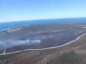 Bribie Island fire footage