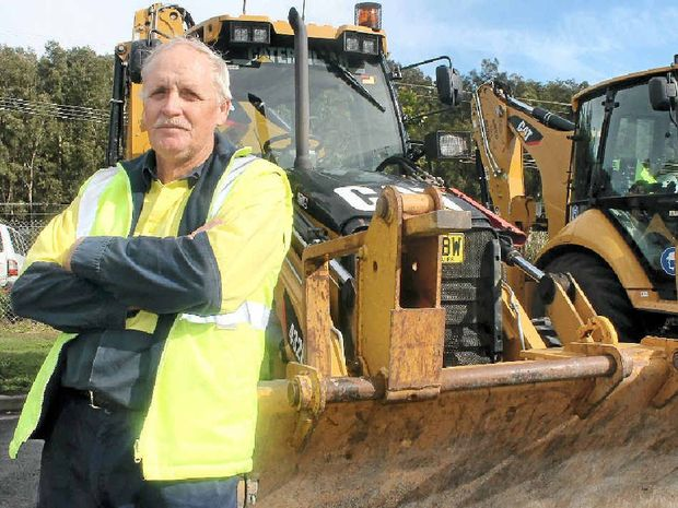 HAPPY DAYS: Loyd Troughton has retired from Ballina Shire Council after nearly 47 years on the job.