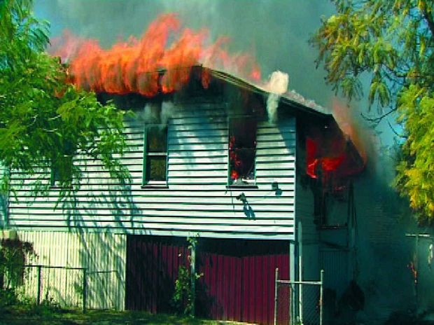 BLAZE: A fire alarm saved the life of a woman when her house went up in flames.
