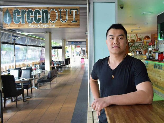 "STUNNED BY RISES: Co-owner of The Greenout cafe and Bar in Maroochydore, Seng Lasi, is angry at increased ""outgoings"" he has to pay on top of his rent."