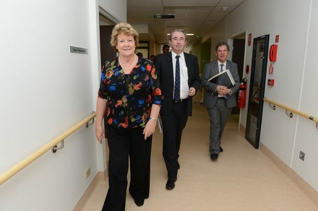 The NSW Minister for Health and Medical Research Jillian Skinner toured the Lismore Base Hospital to officially open the Women's Care Unit and see new works being carried out at the site. She was joined by, from left, Federal Member for Page Kevin Hogan and Chief Executive Northern NSW Local Health District Chris Crawford. Photo Cathy Adams / The Northern Star