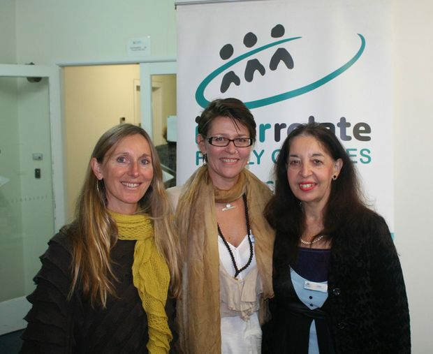 Royal Commission Community Based Support Services Clinical Specialists Jeannie O'Carroll and Monique Rutherford with Interrelate Area Manager Julie Leete at the launch of counselling services for victims of child sexual abuse. Photo: Rodney Stevens / Northern Star