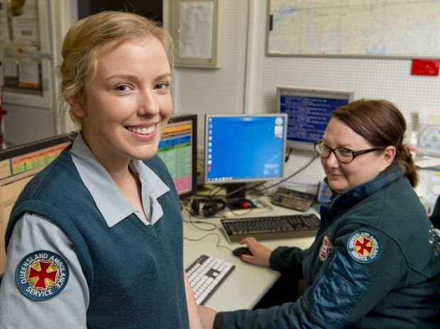 Emergency medical despatcher students Renee Oldfield (left) and Sarah London are enjoying their new roles in Toowoomba.