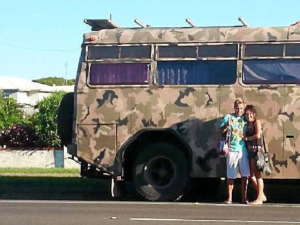 SPREADING WORD: Jason Morris and his wife will hit the road with this modified bus.