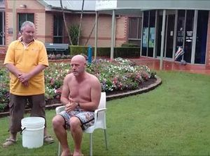 Shirtless councillor in ice challenge