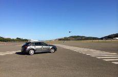 The Audi A3 Sportback e-tron at Hamilton Island last week.