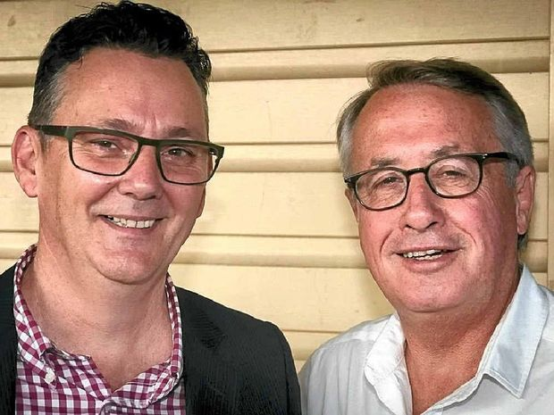 LABOR MATES: Paul Spooner and Wayne Swan.