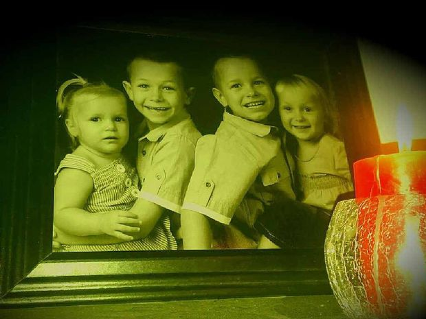 TRAGIC: Matilda, Eathan, Ryan and Joan in earlier years.