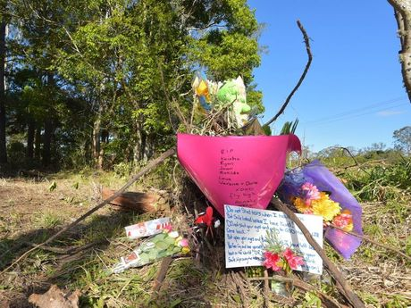 Scene of the fatal car crash on the Mooloolah Connection Road at Glenview where four members of the one family died. Photo: Brett Wortman / Sunshine Coast Daily