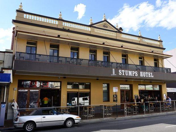 Stumps Hotel in Brisbane Street, Ipswich.
