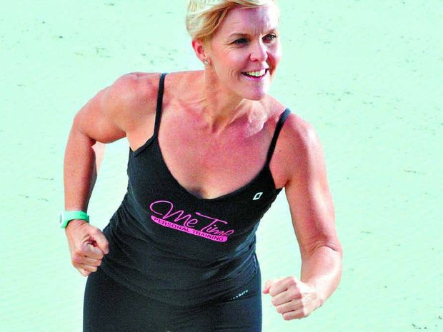 SUPER CONFIDENT: Andrea Skews trains for the daunting 517km run across the Birdsville Track to raise funds for the Coast charity Care Outreach.