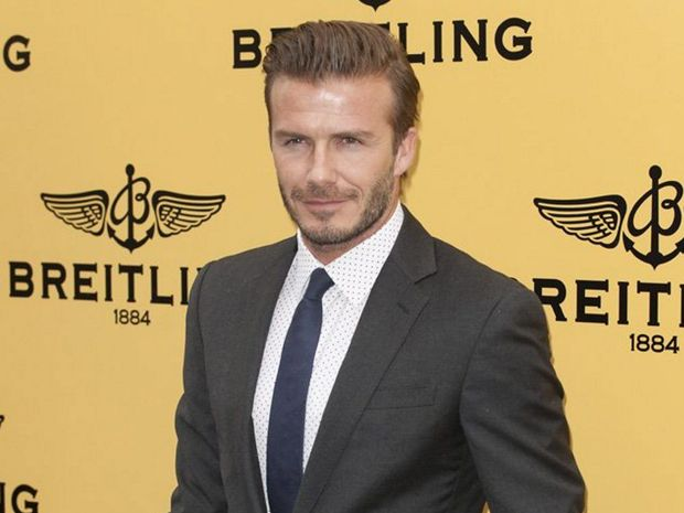David Beckham has a sexy name in 2014.