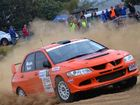 TIGHT RACING: Ian Menzies and Bob McGowan will join the battle for line honours in round five of the 2014 Hankook Tyre Queensland Rally Championships in Wowan this weekend